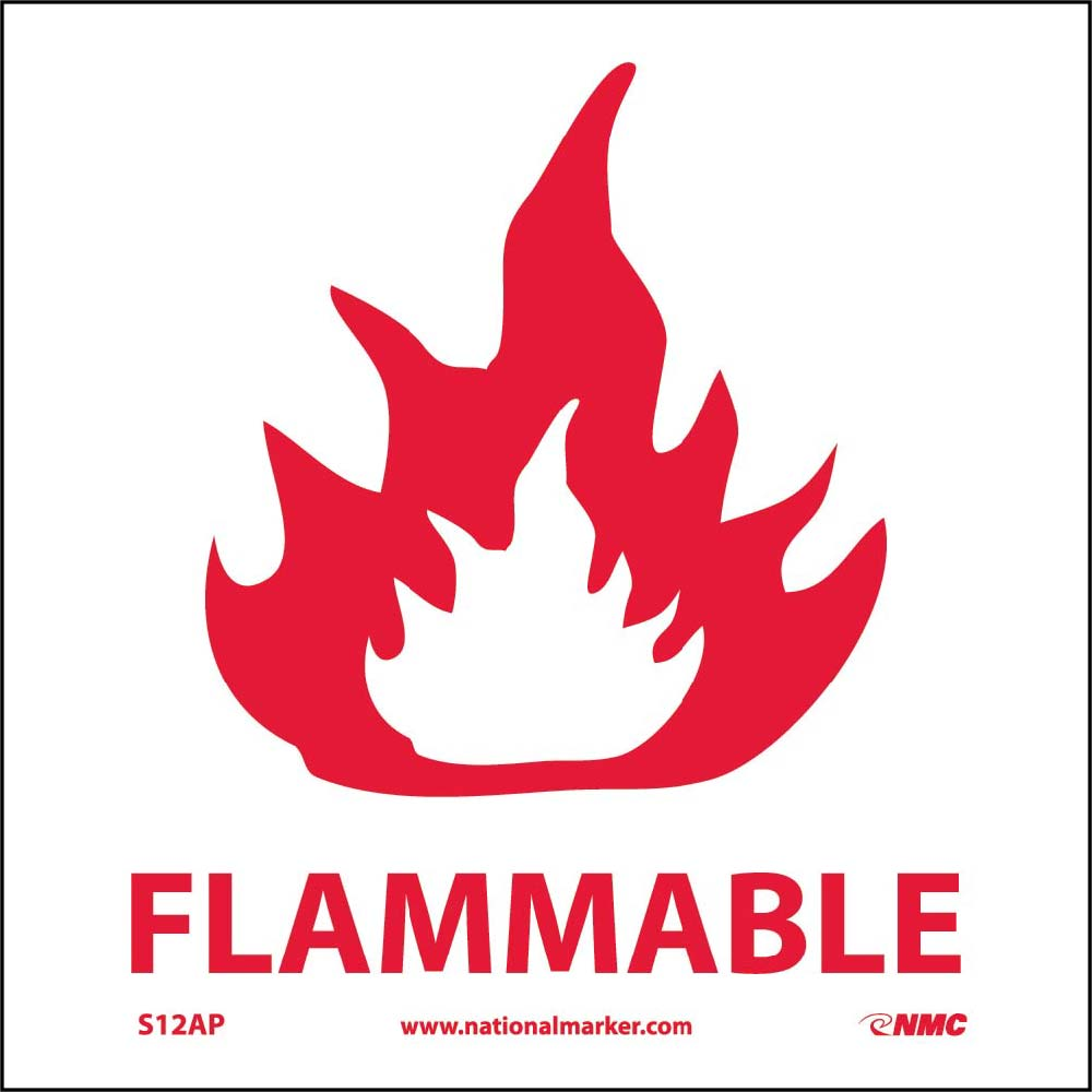 Flammable Label - 5 Pack