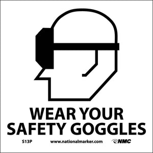 Wear Your Safety Goggles Sign