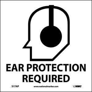 Ear Protection Required Label - 5 Pack
