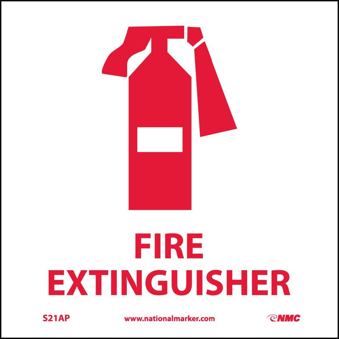 Fire Extinguisher Label - 5 Pack