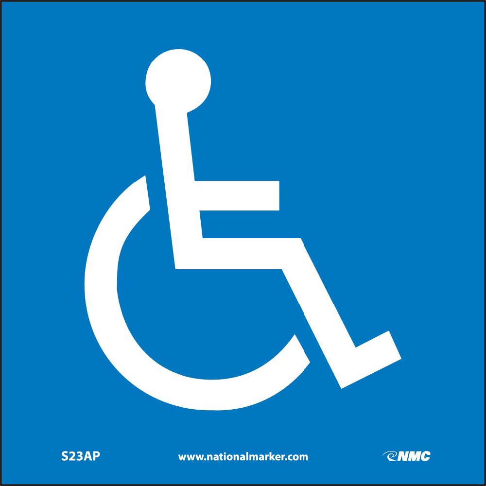 Blank (Handicapped Symbol Only) - 5 Pack