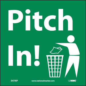 Pitch In Label - 5 Pack