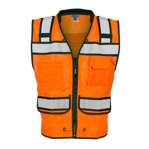 ML Kishigo - High Performance Surveyors Vest-  Zipper Front Closure