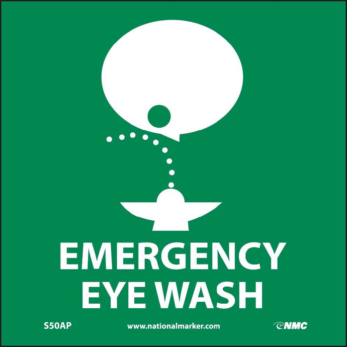 Emergency Eye Wash Label - 5 Pack