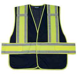 ERB Expandable Navy Polyester Mesh Safety Vest