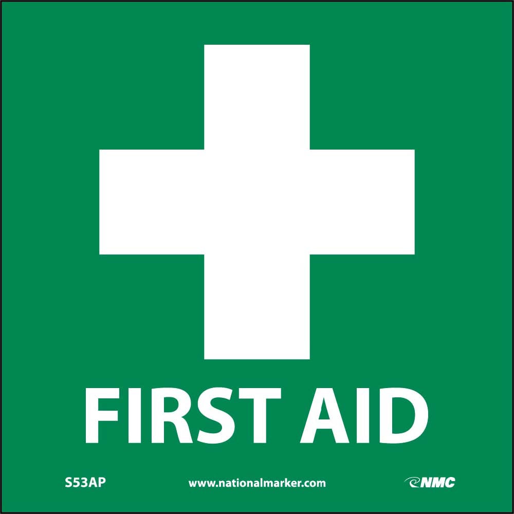 First Aid Label - 5 Pack