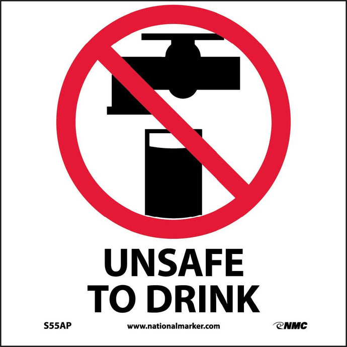 Unsafe To Drink Label - 5 Pack