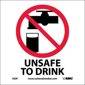 Unsafe To Drink Sign