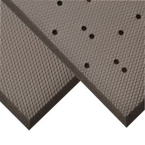 "Superior Manufacturing 3' X 8' Solid Black 3/4"" Thick PVC And Nitrile Foam Blend Superfoam Dry Area Safety/Anti-Fatigue Floor Mat With Beveled Edges"