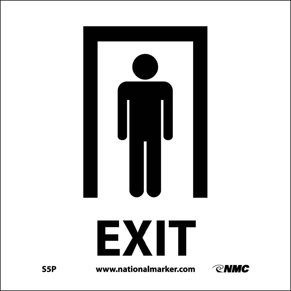 Exit W/Graphic Label