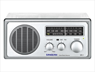Sangean-Analog AM / FM Clear Table - Top Radio - Clear