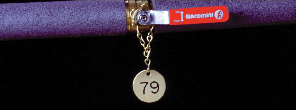 Numbered Brass Valve Tags 126-150 - Pack of 25