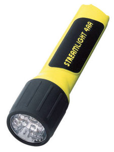 Streamlight Yellow ProPolymer Flashlight With White LED And Alkaline Batteries