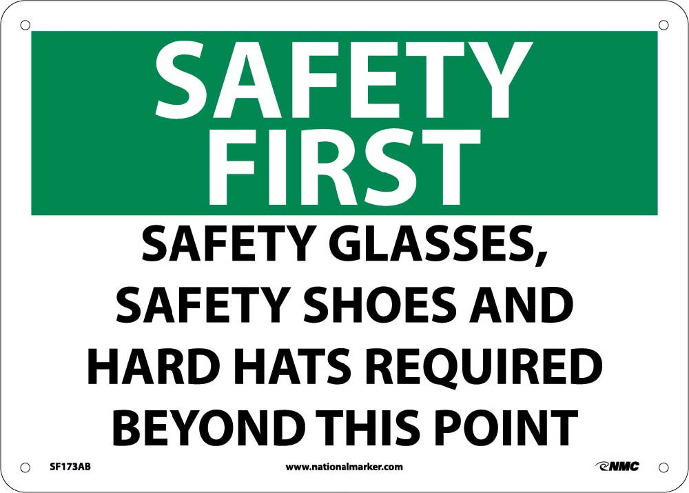 Safety First Ppe Equipment Required Sign