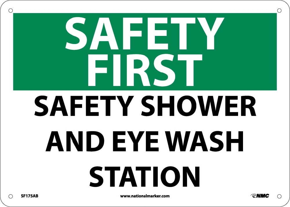 Safety First Safety Shower And Eye Wash Station Sign