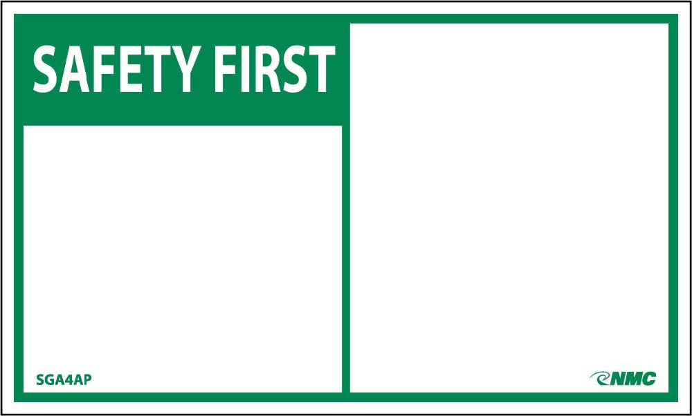 Safety First Label - 5 Pack