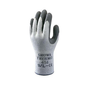 SHOWA Best Glove Size 9 Gray And Dark Gray Atlas Therma-Fit Seamless Loop-In Thermal Terry Cotton Lined Insulated Cold Weather Gloves With Elastic Cuff, Gray Latex Coated