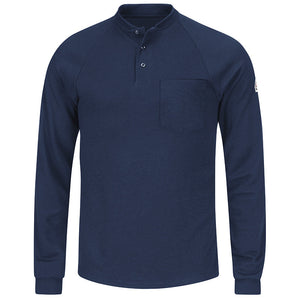 Bulwark - Long Sleeve Henley Shirt- CoolTouch2