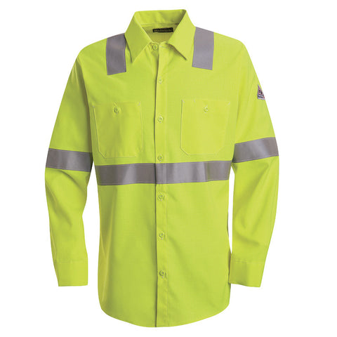 b605547878c7 Bulwark - Hi-Visibility Flame-Resistant Work Shirt - CoolTouch 2 - 7 oz