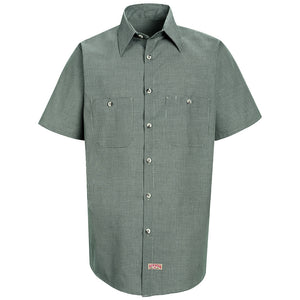 Red Kap Men's Micro-Check Uniform Shirt