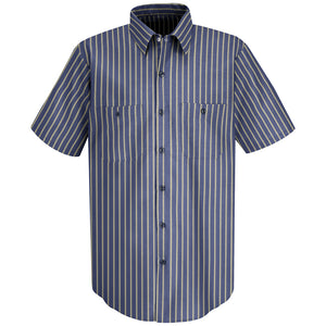 Red Kap Men's Industrial Stripe Work Shirt