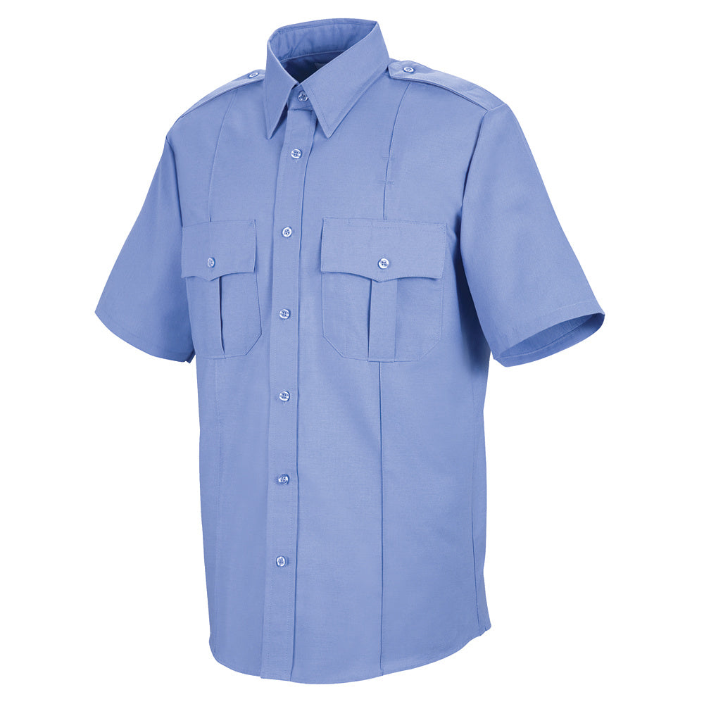 Horace Small Sentinel Upgraded Security Short Sleeve Shirt SP46MB - Medium Blue