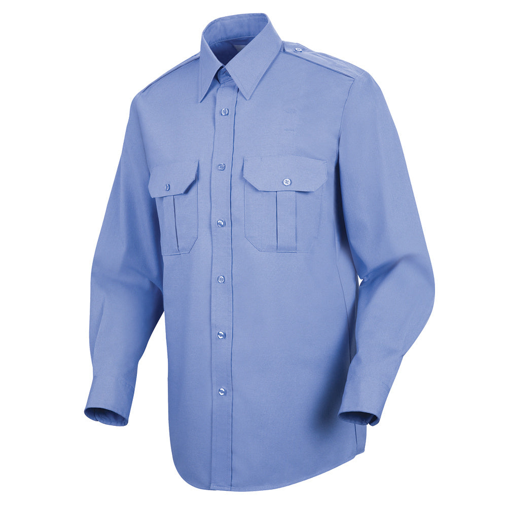 Horace Small Sentinel Basic Security Long Sleeve Shirt SP56MB - Medium Blue