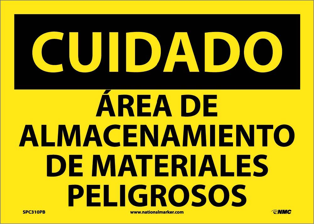 Caution Restricted Area Sign - Spanish