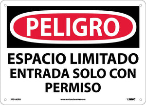 Danger Confined Space Sign - Spanish