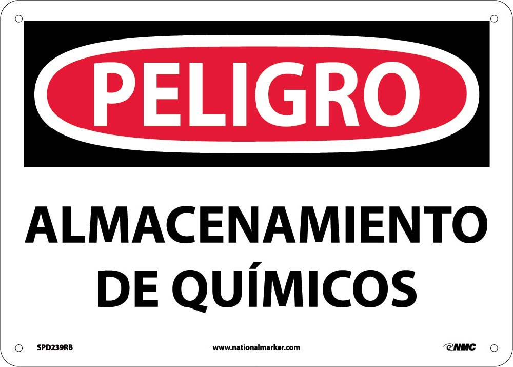 Danger Chemical Storage Area Sign - Spanish