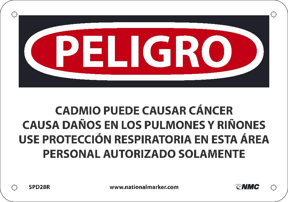 Cadmium May Cause Cancer Causes Sign - Spanish