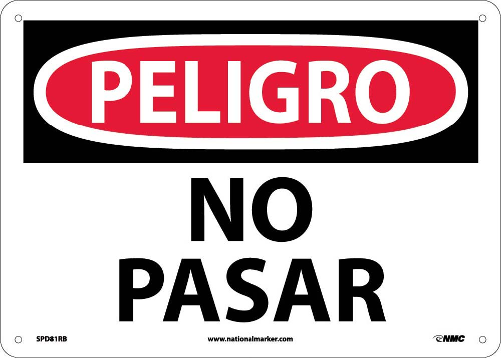 Danger No Trespassing Sign - Spanish