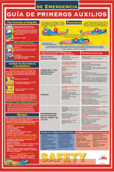 First Aid Guide Spanish Poster