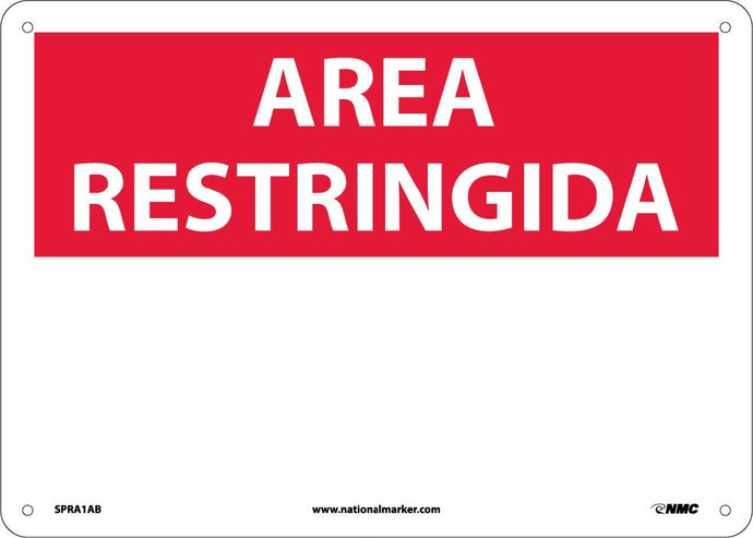 Restricted Area Sign - Spanish