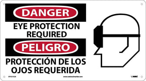 Danger Eye Protection Required Sign - Bilingual