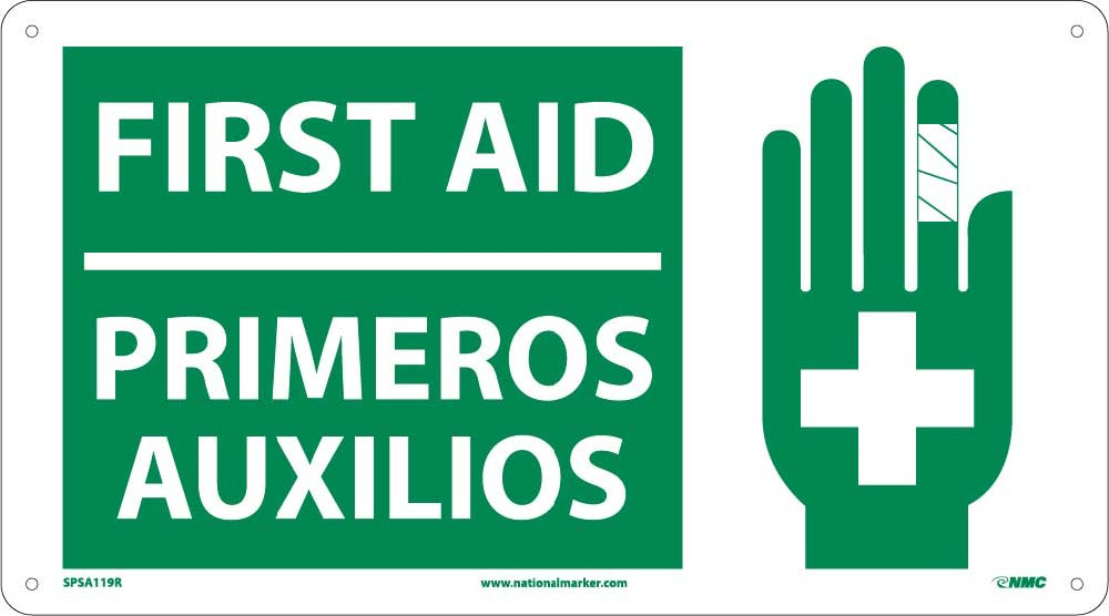 First Aid Sign - Bilingual