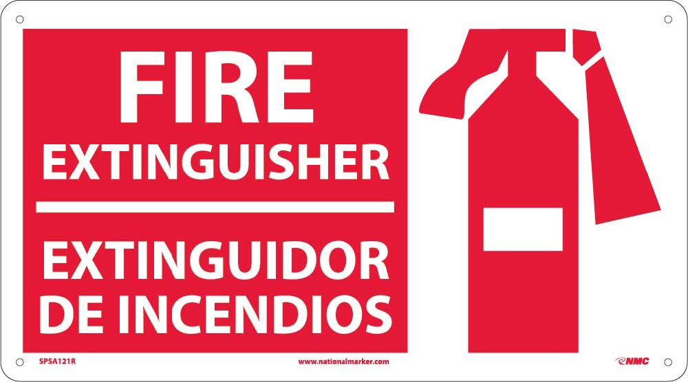 Fire Extinguisher Bilingual Sign