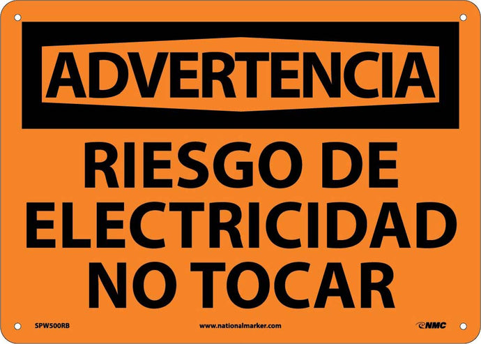 Warning Risk Of Electricity Do Not Touch Sign - Spanish