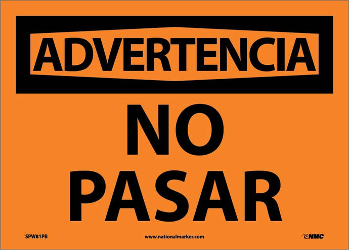 Warning No Trespassing Sign - Spanish