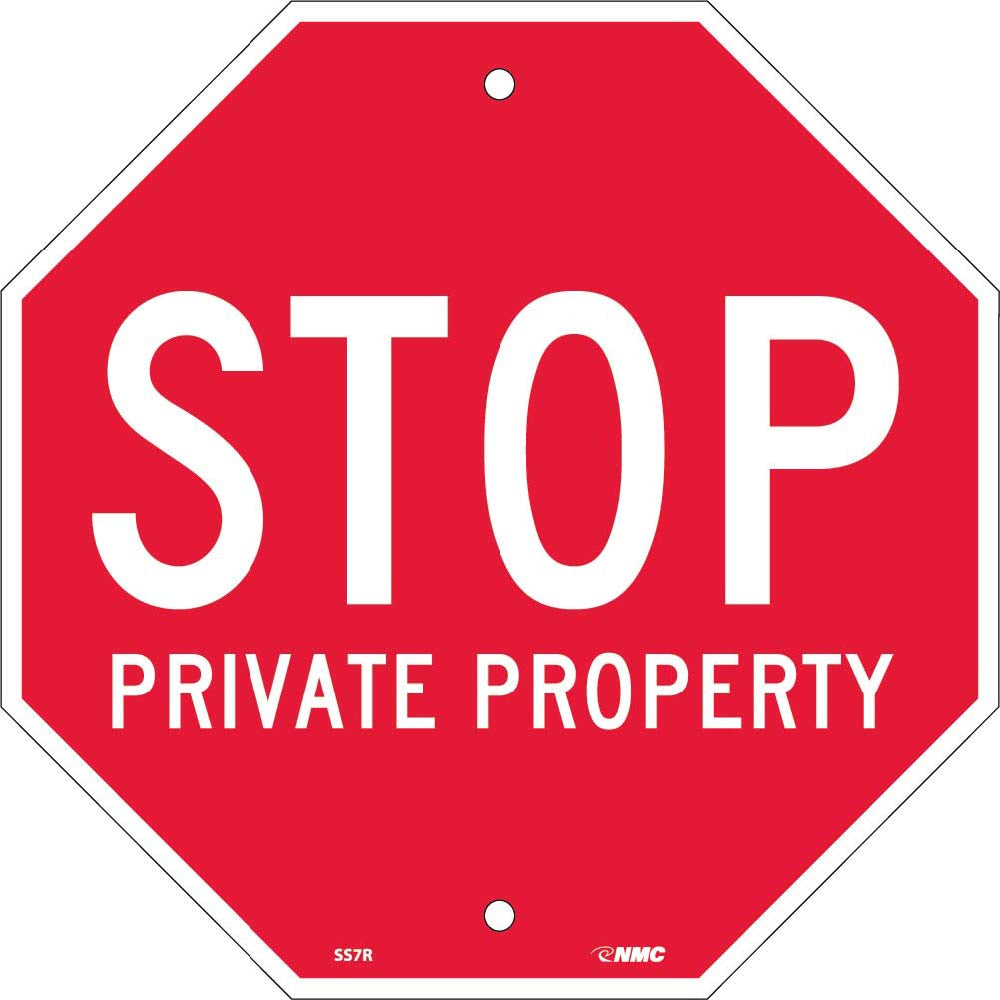 Stop Private Property Sign