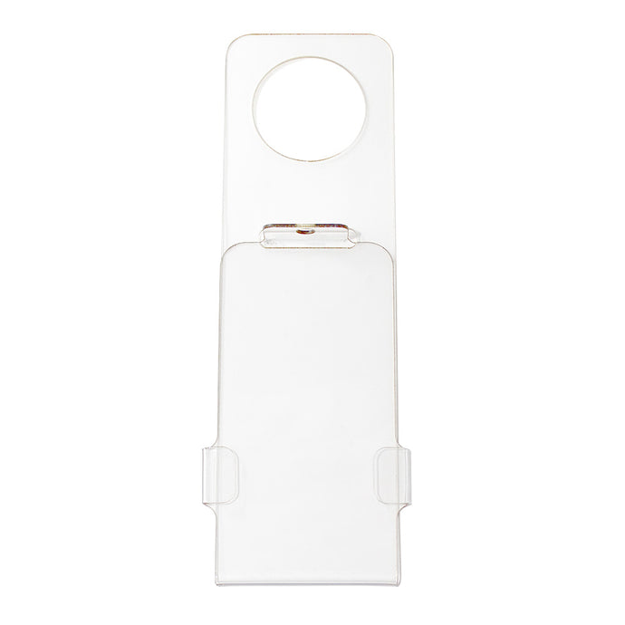 Lockable scaffold tag holder
