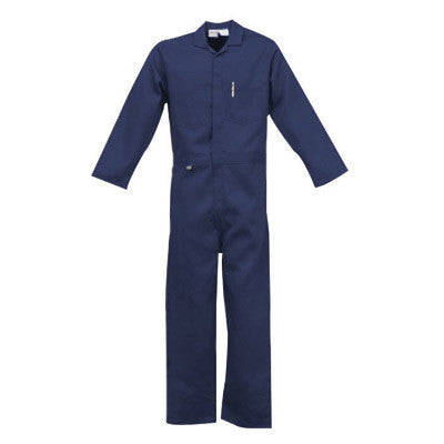 Stanco Medium Navy Blue 9 Ounce Indura UltraSoft Flame Retardant Deluxe Coverall With Front Zipper Closure And Elastic Waistband