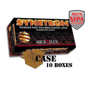 Microflex - Synetron Polymer-Coated Latex Examination Gloves - Case