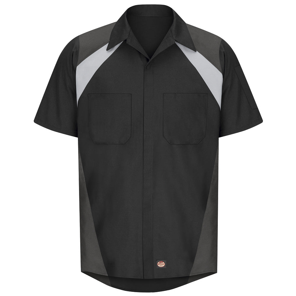 Red Kap Tri-Color Short Sleeve Shop Shirt