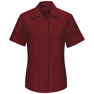 Red Kap Women's Performance Plus Shop Shirt with OIL BLOK Technology Short Sleeve