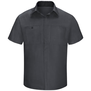 Red Kap Men's Performance Plus Shop Shirt with OIL BLOK Technology Short Sleeve