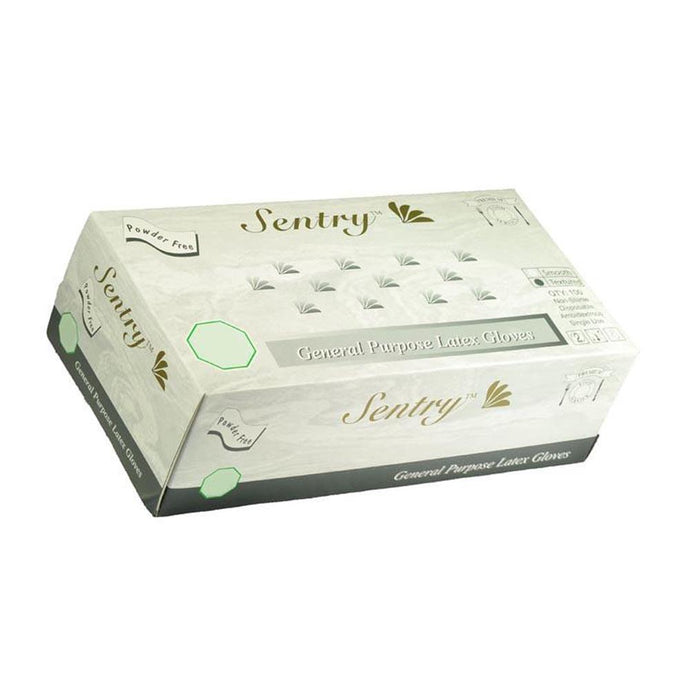 Sentry - Latex Gloves, Powder Free, Smooth - Box
