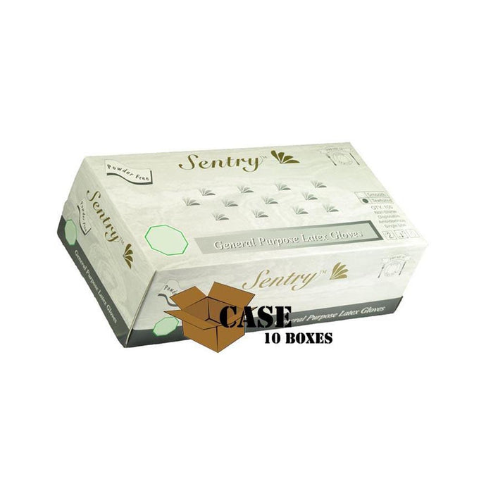 Sentry - Latex Gloves, Powder Free, Smooth - Case