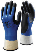 Best Showa Black And Blue Nitrile Coated Work Gloves