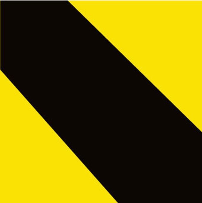 Stripe Safety Tape Black/Yellow - Roll